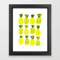 Modern Pineapples Painting Framed Art Print