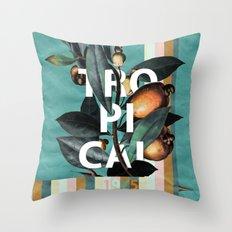 1965 Vintage Garden Throw Pillow