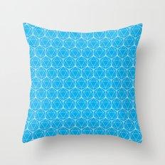 Icosahedron Pattern Brig… Throw Pillow