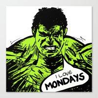 Hulk Loves Monday Canvas Print