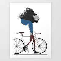 Hipster Lion And His Bic… Art Print