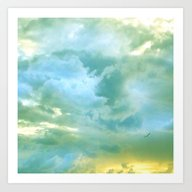 Solo Flight: Aqua Variat… Art Print