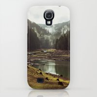 iPhone Cases featuring Foggy Forest Creek by Kevin Russ