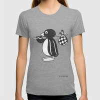 Pingu Womens Fitted Tee Tri-Grey SMALL