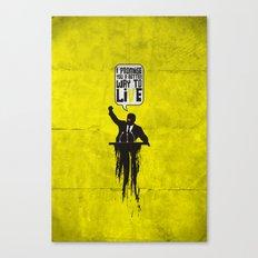 Political speech! Canvas Print