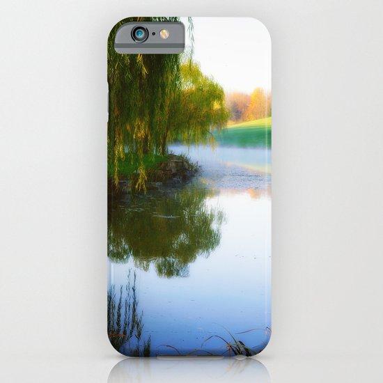 Morning mist on Schnormeier pond iPhone & iPod Case