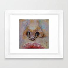 Nose Ring Framed Art Print