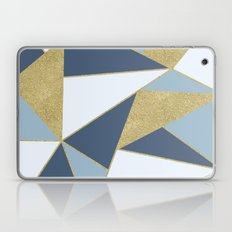 Abstract Blue and Gold Laptop & iPad Skin