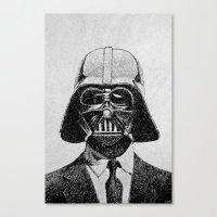 Darth Vader portrait Canvas Print