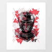 ARMOUR HELMET Art Print