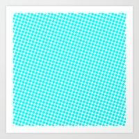 BLUE DOT Art Print