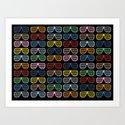 Rainbow Shutter Shades at Night Art Print