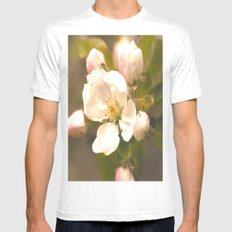 Apple Blossoms Mens Fitted Tee White SMALL