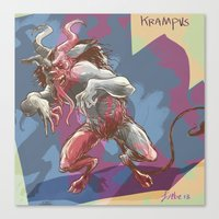 Psycho Krampus Canvas Print