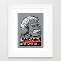 Imagination is more important than knowledge Framed Art Print