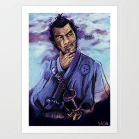 Toshiro Mifune Digital P… Art Print