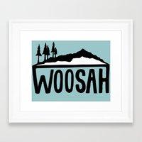 Woosah Framed Art Print