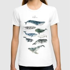 Whales Womens Fitted Tee White MEDIUM
