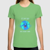 Earth Day Womens Fitted Tee Grass SMALL