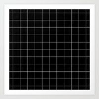 Black Grid /// www.pencilmeinstationery.com Art Print