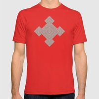 Bardarbunga Sepia Mens Fitted Tee Red SMALL