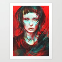 portrait Art Prints featuring Wasp by Alice X. Zhang