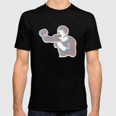 Boxing Ali (coulour) Black SMALL Mens Fitted Tee