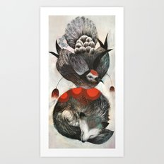 Dove & Fox Art Print