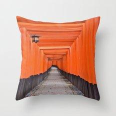 Torii Gates Throw Pillow