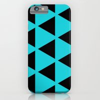 iPhone & iPod Case featuring Sleyer Black on Blue Pattern by Stoflab