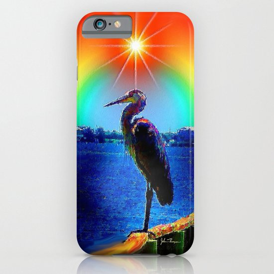 Rainbow Heron iPhone & iPod Case