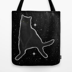Kiki Kitty Cat in Outer Space Tote Bag