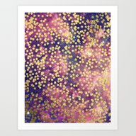Art Print featuring Gold-Flecked Galaxy by Cat Coquillette