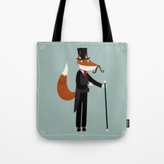 Mr Fox Takes a Stroll Tote Bag