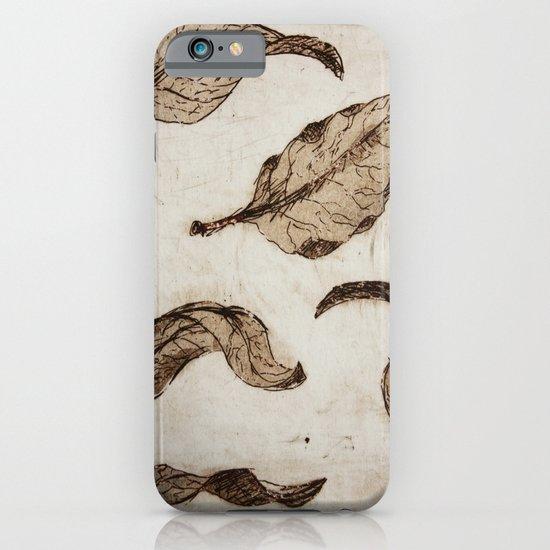aquatint leaves iPhone & iPod Case