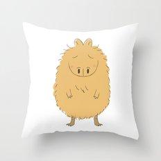 Thinking Capybara Throw Pillow