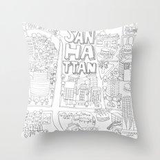 Sanhattan Throw Pillow