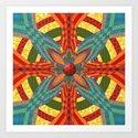 Thistle Pattern Art Print