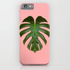 Monstera Leaf on Pink Slim Case iPhone 6s