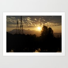 Two sources of Power Solar & Hydro Electric Art Print