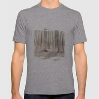 walking through the last days of autumn Mens Fitted Tee Athletic Grey SMALL