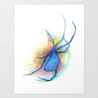 as she counted the spiders Art Print