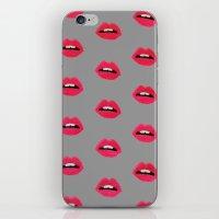 Lips_grey iPhone & iPod Skin
