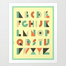 ALPHABET Art Print