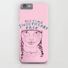 Resting sweetheart face iPhone 6s Slim Case