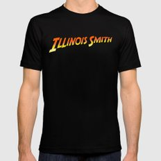 Illinois Smith Black SMALL Mens Fitted Tee