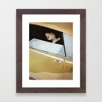 In Car Framed Art Print