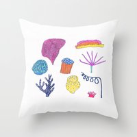 sea flora Throw Pillow