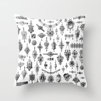Jewels and Trinkets Throw Pillow