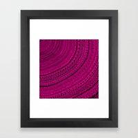 Hot Pink Pulse O4. Framed Art Print